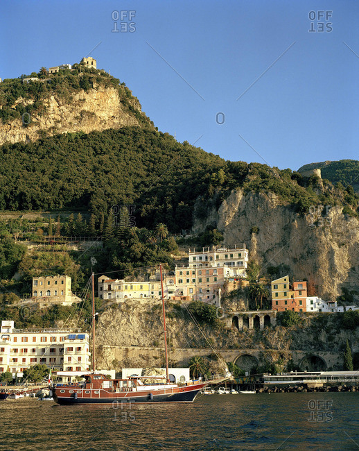 Buildings on coastal cliffs