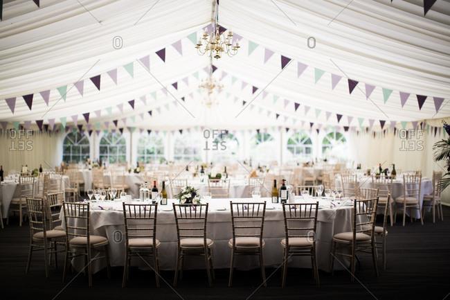 Wedding marquee, United Kingdom
