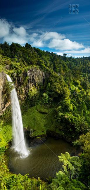 Bridal Veil Falls (Waireinga) near Raglan, Waikato, North Island, New Zealand