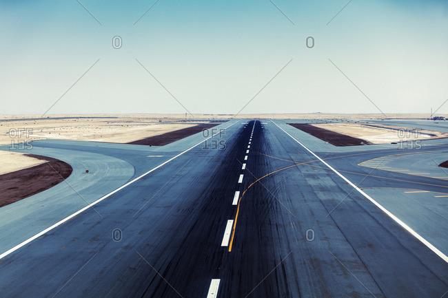 Runway at Al Maktoum International Airport, Jebel Ali, UAE