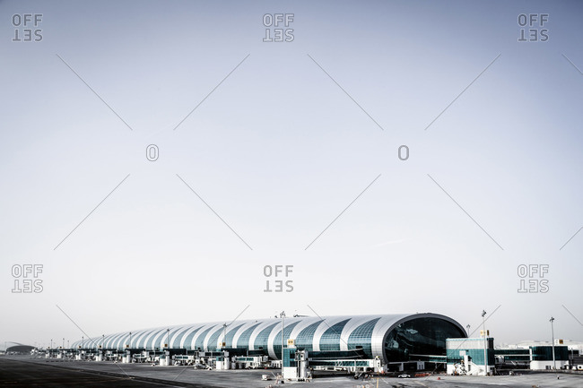 Dubai, UAE - December 27, 2012: Concourse A at Dubai International Airport, UAE
