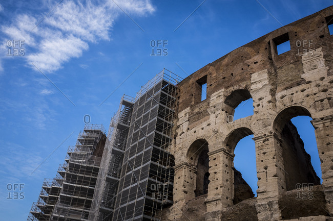 Scaffolding on Roman Coliseum