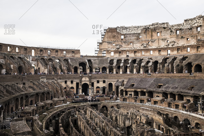Amphitheater in the Roman Coliseum