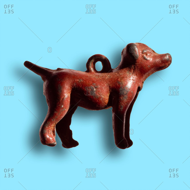 Old dog-shaped trinket
