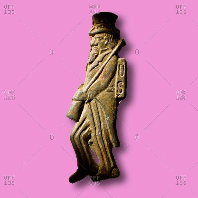 Old figurine of Uncle Sam