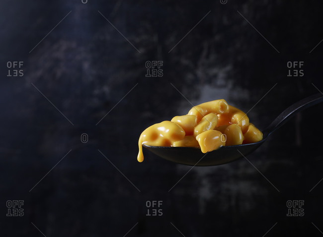 Spoonful of macaroni and cheese