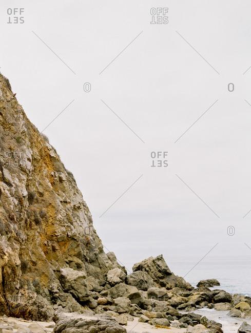 Rocky hill beside the ocean