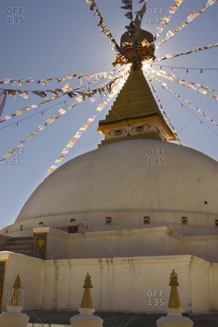 Dhodina Chorten is modeled on the stupa of Boudhanath Thimphu, Bhutan