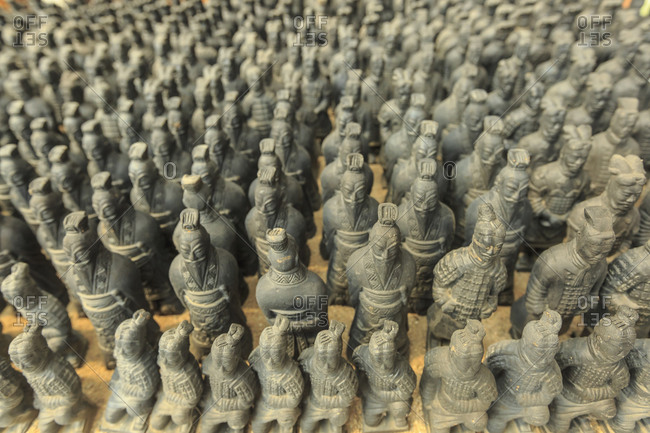 Miniature warriors, Terra-Cotta Warrior's Factory, Xi'an, China
