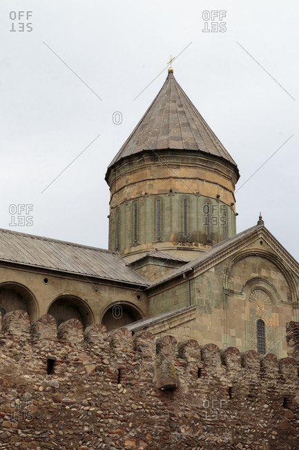 The wall surrounding the Svetitskhoveli Cathedral