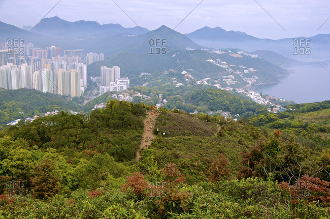 Hang Hau apartments, Clearwater Bay as seen from the popular Junk Peak Trail