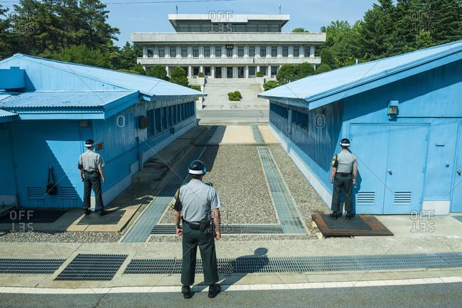 High security border between South and North Korea, Panmunjom, South Korea