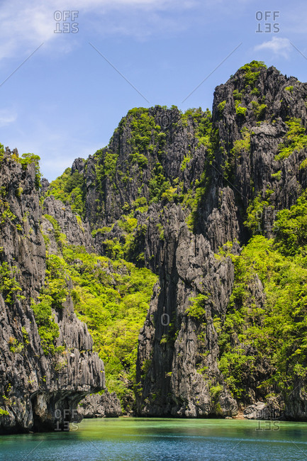 Rocky outcrops in the Bacuit Archipelago, Palawan, Philippines