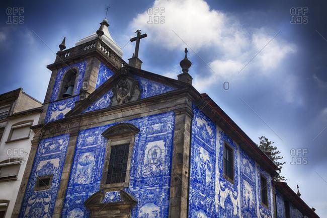 The small church Capela de Santa Catarina stands on the corner in Porto
