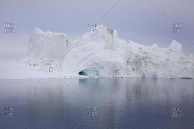 Sculptural shaped iceberg from glacier, Ilulissat, Greenland
