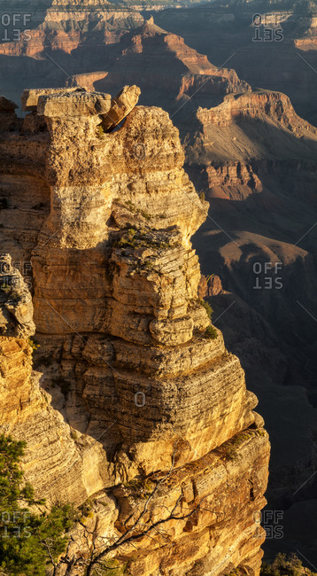 Grand Canyon National Park Vertical panorama at Mather Point on the South Rim, Arizona
