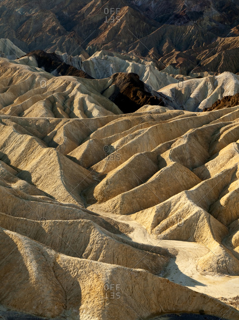 Death Valley National Park Erosion at work near Zabriskie Point, California