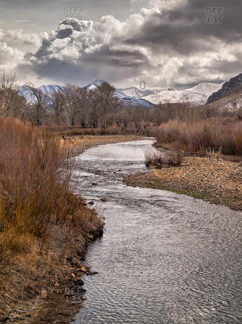Eastern Sierra Ranchland along the West Walker River in winter, California