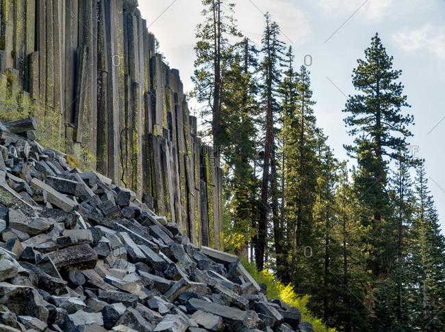 Eastern Sierra Devils Postpile National Monument in autumn, California