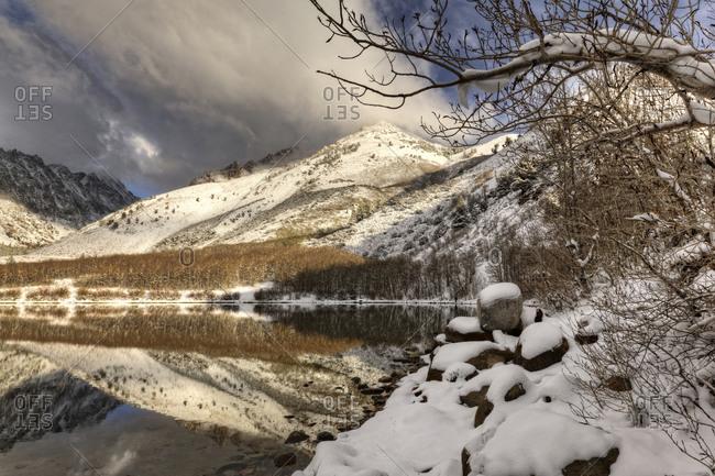 Sierra Nevada Range Spring snow at North Lake, California
