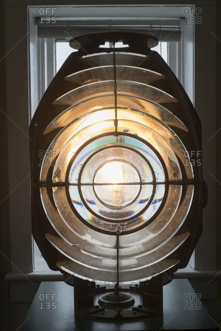 Fire Island, New York Antique Fresnel lighthouse beacon