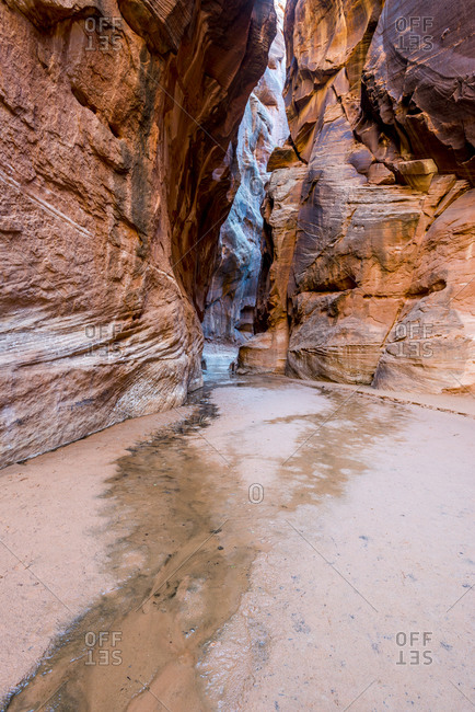 Entrance to Buckskin Slot Canyon in Paria Canyon, Vermillion Cliffs Wilderness, Southern Utah
