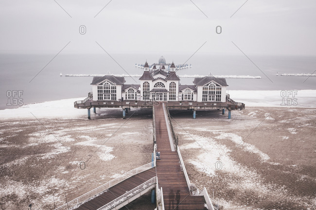 View to Sellin Pier in winter