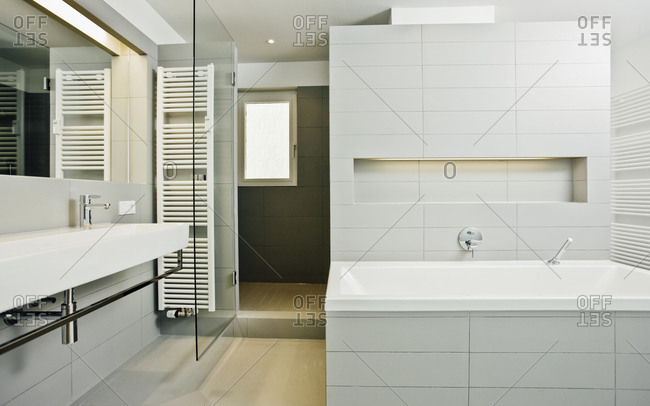 Modern bathroom in a new house