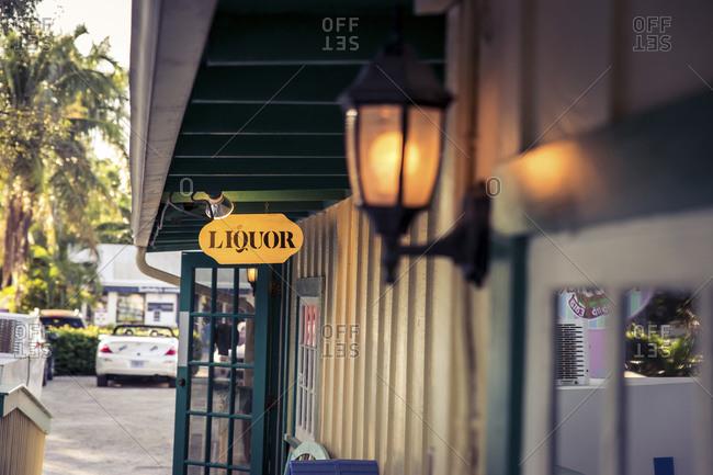Liquor sign in Captiva Island, Florida