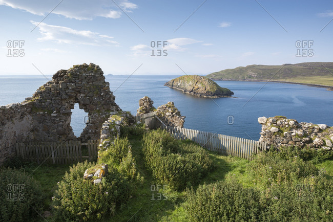 Duntulm castle, castle ruin in Scotland