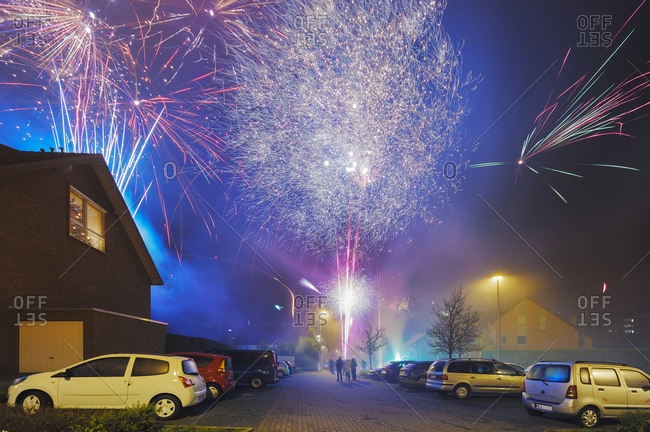 Fireworks in residential area - Offset