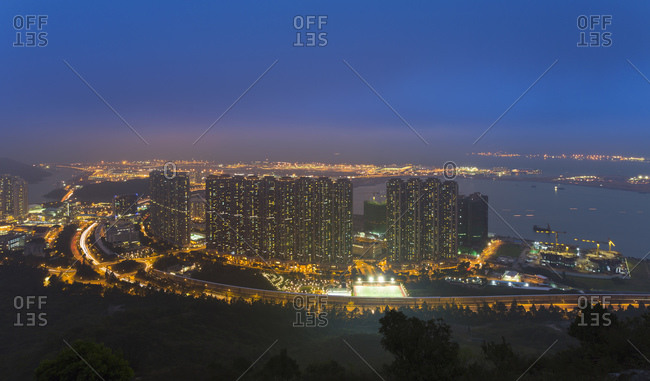 Apartment buildings at Hong Kong International Airport
