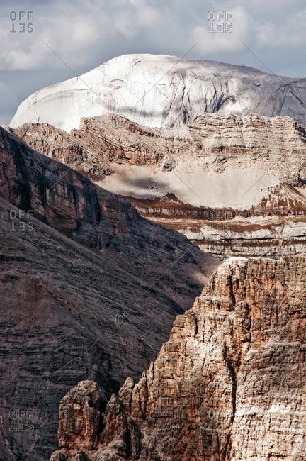 Mountain summit, Marmolata, Dolomites, South Tyrol, Italy