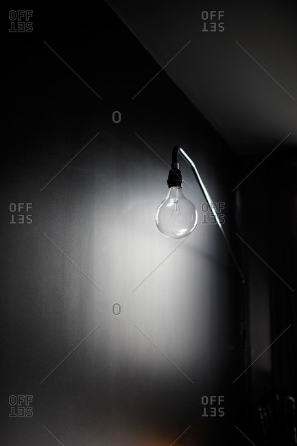 Light bulb lamp, studio shot