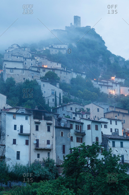 Village in the valley of the Nera river, Valnerina, St. Francis of Assisi, Via Francigena di San Francesco, St. Francis Way, province of Terni, Umbria, Italy