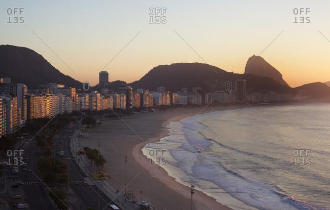 Copacabana at sunrise in Rio de Janeiro