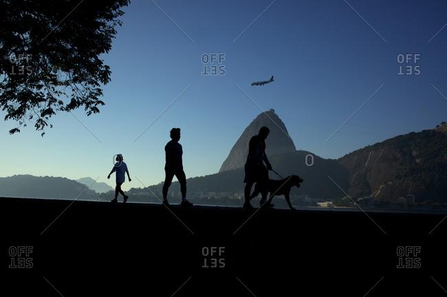 Walkers in early morning, Rio de Janeiro