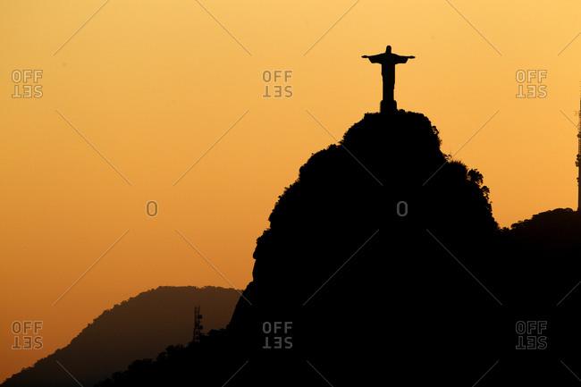 Rio de Janeiro, Brazil - May 27, 2010: Christ the Redeemer at sunset