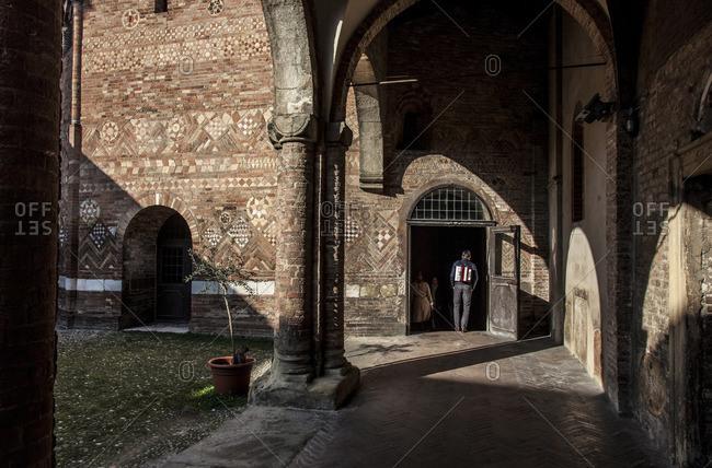 Cloisters in Basilica di Santo Stefano, Bologna, Italy