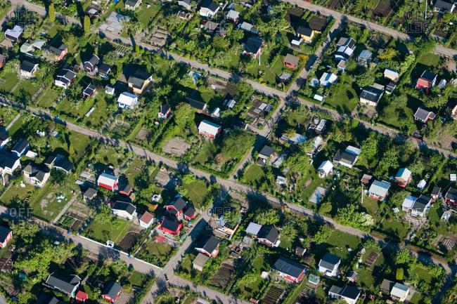 Garden allotments, Narke, Sweden
