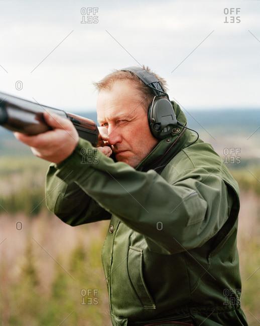 A hunter, Dalarna, Sweden - Offset