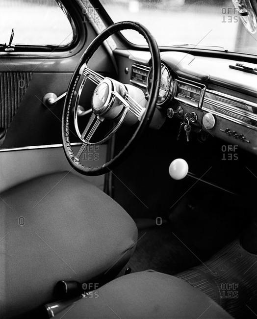 Interior in a car, Sweden