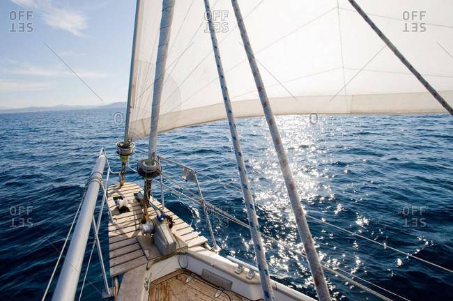 Stem of a sailing-boat, Sardinia, Italy