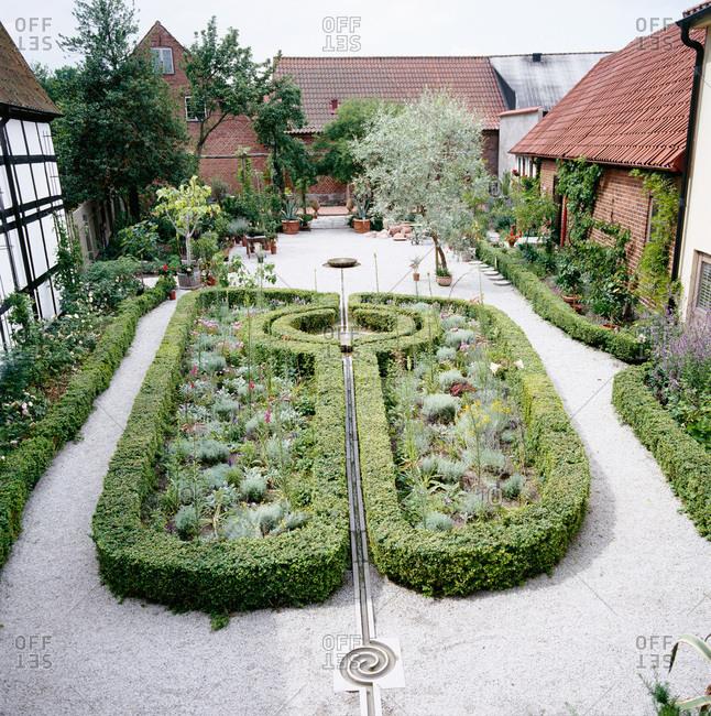 A cultivated garden, Sweden
