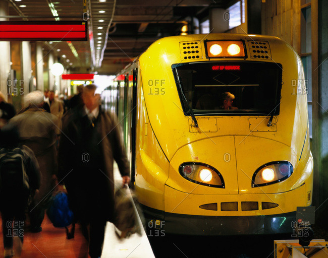 Stockholm, Sweden - August 26, 2009: Arlanda Express train at Stockholm Central
