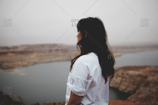 Woman overlooking canyon view