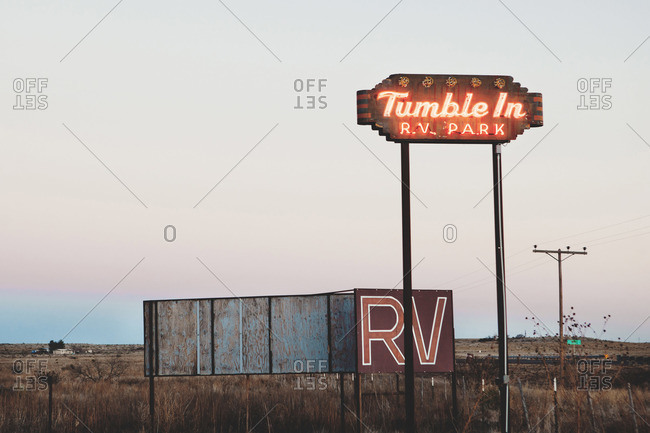 Electric sign for RV park