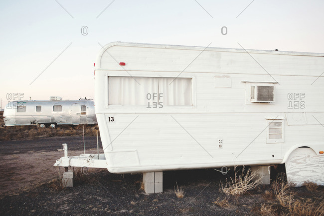 Campers in an RV park