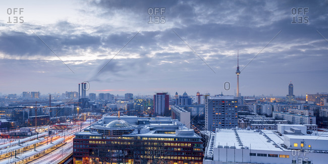 Berlin Skyline in the winter