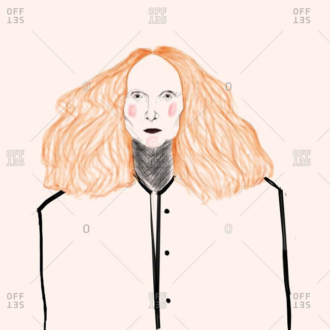 Portrait of Grace Coddington